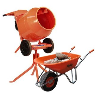 Cement Mixer & Wheelbarrow Package